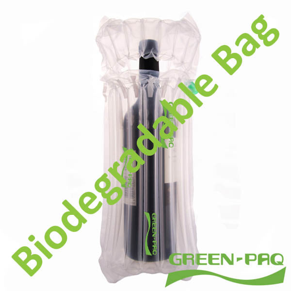 1 Wine Bottle Bag Green Paq Biodegradable